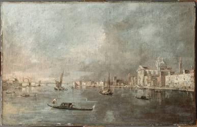 Vue de la Giudecca avec les Zattere (Francesco Guardi) - Muzeo.com