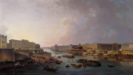 Vue de Paris, prise du pont Neuf (Pierre-Antoine Demachy) - Muzeo.com