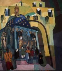 A l'église Notre Dame d'Iberia (Aristarkh Lentulov) - Muzeo.com