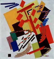 Composition abstraite (Olga Rozanova) - Muzeo.com