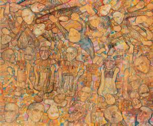 Composition avec la foule (Pavel Filonov) - Muzeo.com