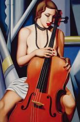 Femme avec violoncelle (Catherine Abel) - Muzeo.com