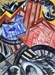 L'Usine et le pont (Olga Rozanova) - Muzeo.com