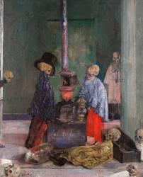 Squelettes se réchauffant (James Ensor) - Muzeo.com