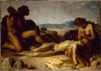 Adam et Eve trouvant Abel mort (Bonnat Léon Joseph Florentin) - Muzeo.com