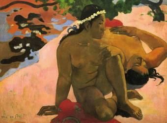 Aha oe Feii? (Es-tu jalouse?) (Paul Gauguin) - Muzeo.com