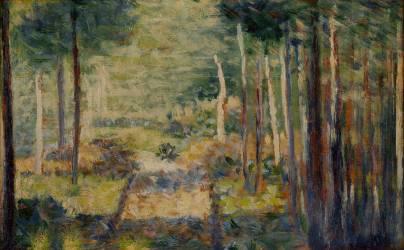 Allée en forêt, Barbizon (Georges Seurat) - Muzeo.com