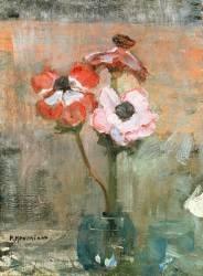 Anémones dans un vase (Mondrian Piet) - Muzeo.com