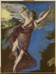 Ange volant et jouant de la flûte (Carolus-Duran) - Muzeo.com