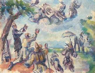 Apothéose de Delacroix (Paul Cézanne) - Muzeo.com