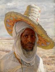 Arabe au grand chapeau (Dinet Etienne) - Muzeo.com