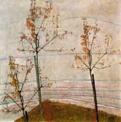 Arbres d'automne (Egon Schiele) - Muzeo.com