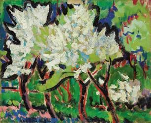 Arbres fleurissant (Ernst Ludwig Kirchner) - Muzeo.com