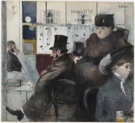 Au café de la Nouvelle Athènes (Forain Jean-Louis) - Muzeo.com