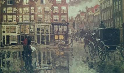 Au coin de Leidsche Square (George Hendrik Breitner) - Muzeo.com