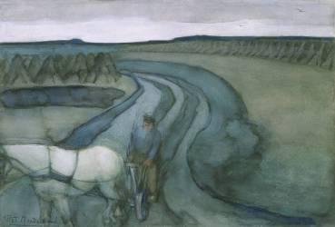Au travail : dans les champs (Mondrian Piet) - Muzeo.com