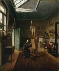 Auguste Moreau dans son atelier (Auguste Moreau-Deschanvres) - Muzeo.com