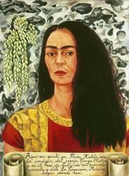 Autoportrait avec les cheveux détachés (Frida Kahlo) - Muzeo.com