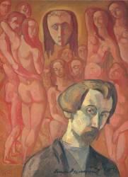 Autoportrait symbolique, dit aussi Vision (Bernard Emile) - Muzeo.com