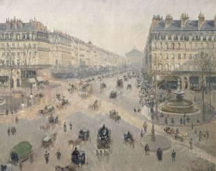 Avenue de l'Opéra, soleil, matinée d'hiver (Camille Pissarro) - Muzeo.com