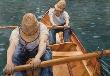 Aviron de Plaisanciers sur l'Yerres (Gustave Caillebotte) - Muzeo.com