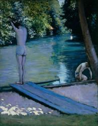 Baigneur sur le point de plonger dans la Rivière de L'Yerres (Gustave Caillebotte) - Muzeo.com