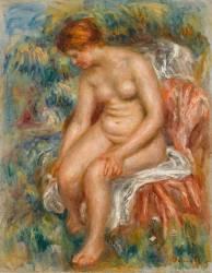 Baigneuse assise (Auguste Renoir) - Muzeo.com