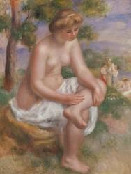 Baigneuse assise dans un paysage, dite Eurydice (Auguste Renoir) - Muzeo.com