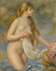 Baigneuse aux cheveux longs (Auguste Renoir) - Muzeo.com