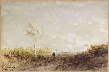 Barbizon matin de printemps (Félix Ziem) - Muzeo.com