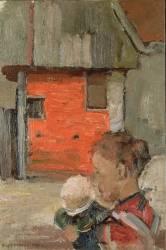 Bâtiments agricoles et figures (Mondrian Piet) - Muzeo.com