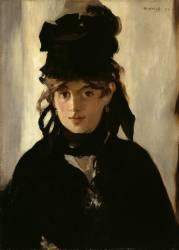 Berthe Morisot au bouquet de violettes (Manet Edouard) - Muzeo.com