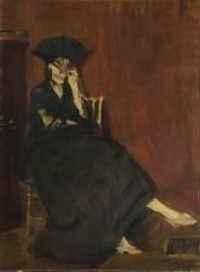 Berthe Morisot à l'éventail (Manet Edouard) - Muzeo.com