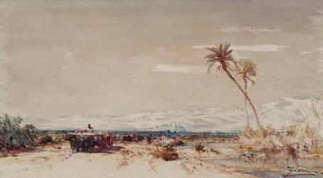 Beyrouth, les deux palmiers (Félix Ziem) - Muzeo.com