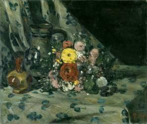Bouquet au dahlia jaune (Cézanne Paul) - Muzeo.com
