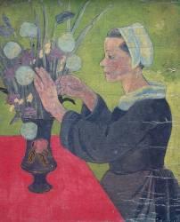 Bretonne au bouquet (Paul Serusier) - Muzeo.com