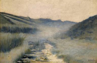 Brouillard du matin, Diélette, Flamanville (Alphonse Osbert) - Muzeo.com