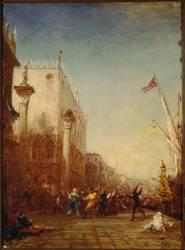 Carnaval à Venise, quai des Esclavons (Félix Ziem) - Muzeo.com