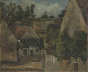 Carrefour de la Rue Rémy à Auvers (Paul Cézanne) - Muzeo.com