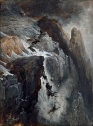Catastrophe au Mont-Cervin ; la chute (Doré Gustave) - Muzeo.com
