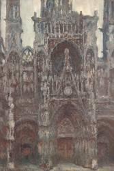 Cathédrale de Rouen, le portail vue de face, harmonie brune (Claude Monet) - Muzeo.com