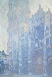 Cathédrale de Rouen. Le portail et la tour Saint-Romain, effet du matin, harmonie blanche (Claude Monet) - Muzeo.com
