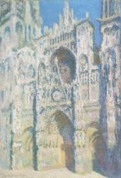 Cathédrale de Rouen, le portail et la tour Saint Romain, plein soleil, harmonie bleue et or (Claude Monet) - Muzeo.com