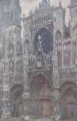 Cathédrale de Rouen, le portail, temps gris, harmonie grise (Claude Monet) - Muzeo.com