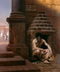 Cave canem, prisonnier de guerre à Rome (Gerôme Jean Léon) - Muzeo.com