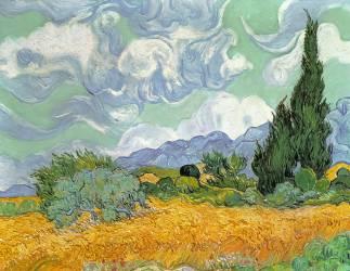 Champ de blé avec cyprès, 1889 (Van Gogh Vincent) - Muzeo.com