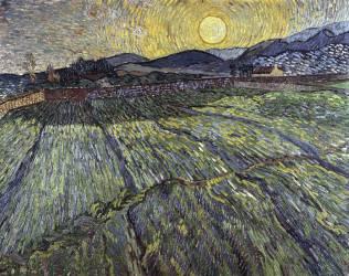 Champ de Blé et Lever de Soleil (Vincent van Gogh) - Muzeo.com