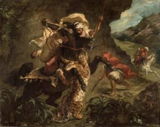 Chasse au tigre (Eugène Delacroix) - Muzeo.com
