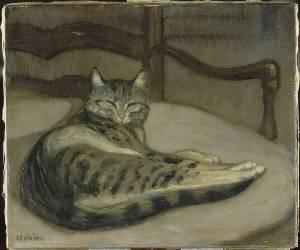 Chat sur un fauteuil (Steinlen Théophile Alexandre) - Muzeo.com