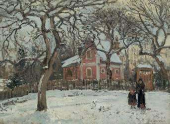 Châtaigniers à Louveciennes (Camille Pissarro) - Muzeo.com